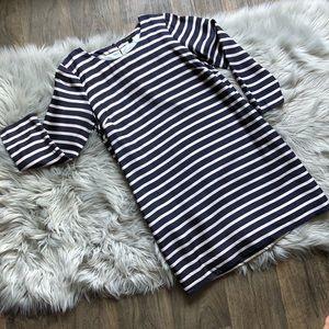 J. Crew Silk Striped Dress with Pockets